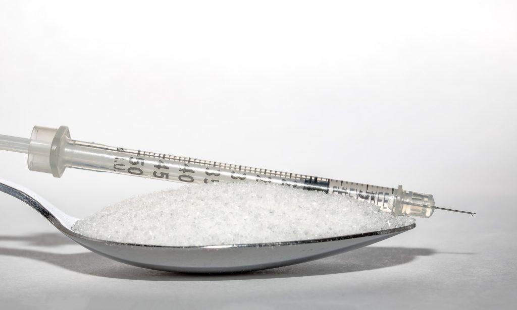 Spritze Zucker Löffel