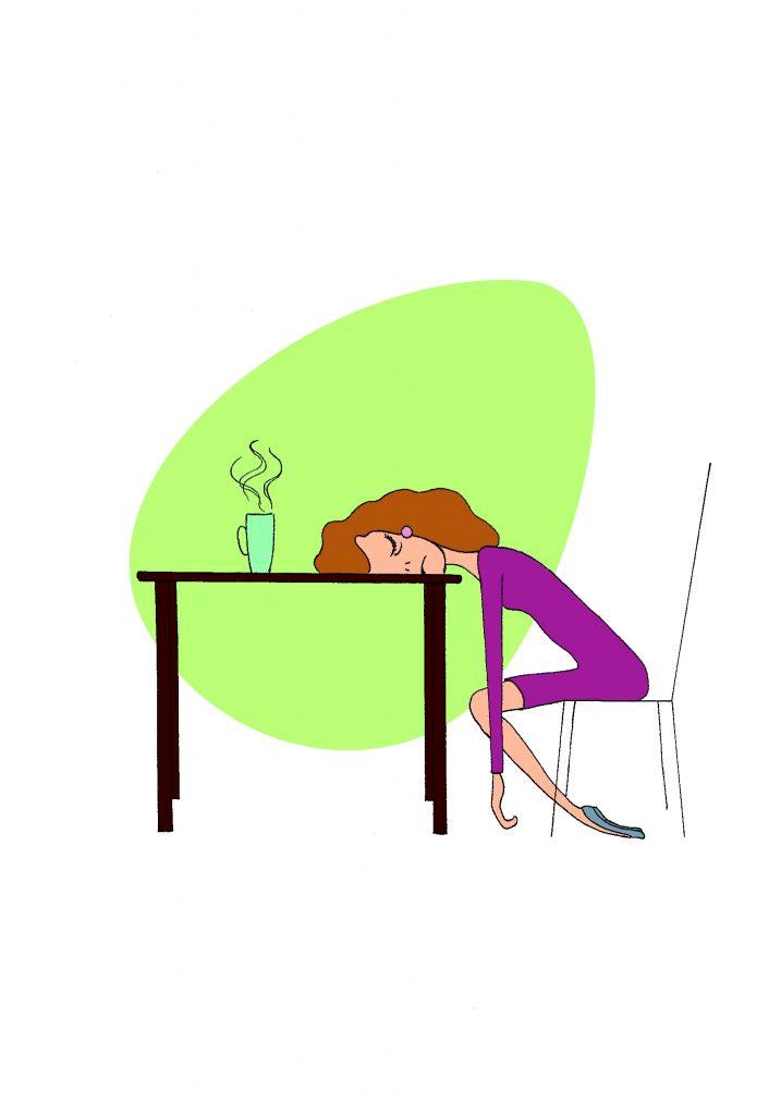 Erschöpfung Arbeitsplatz Stuhl Müdigkeit